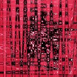 Ganz eigenhändig geschrieber Hintergrund der Grenadine und des rosa Lochs 3d mit geometrischem Zickzack bewegt Effekt und Kräusel stock abbildung
