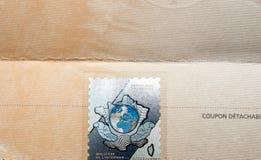 Ganz eigenhändig geschrieber Stempel auf der amtlichen Urkunde des Ministeriums von Interi Lizenzfreie Stockbilder