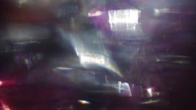 Ganz eigenh?ndig geschriebes Licht spritzt, bunte Umwandlungen, lautes Fernsehkonzept stock video footage