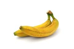 Ganze Banane zwei lokalisiert stockbilder