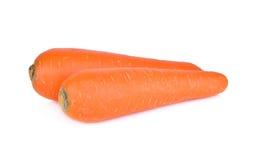 Ganze frische Karotte auf weißem Hintergrund Stockfotos
