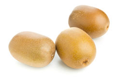 Ganze goldene Kiwi des Kiwifruit/drei Lizenzfreie Stockfotografie