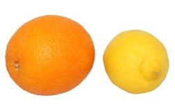 Ganze Orange und Zitrone Stockfoto