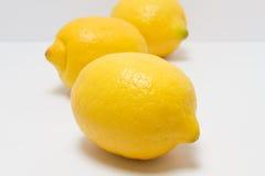 Ganze Zitronen auf einem weißen Hintergrund Stockfoto