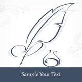 Ganzepen en tekst stock illustratie