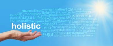 Ganzheitstherapie-blauer Himmel-Wort-Wolke Lizenzfreies Stockfoto