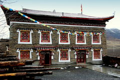 Ganzi, China: Tibetan Monastery Building Stock Photography