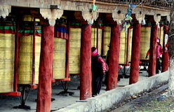 Ganzi, China: Tibetan Prayer Wheels Royalty Free Stock Photos