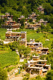 Ganzi, china, village house, temple, Royalty Free Stock Images