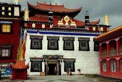 Ganzi Kina: Tibetan kloster för Ta-Gong Fotografering för Bildbyråer