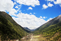 Ganzi, Sichuan Kangding tower public grasslands Royalty Free Stock Images