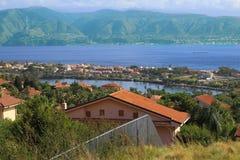 Ganziri Μεσσήνη Σικελία λιμνών τοπίων Στοκ φωτογραφία με δικαίωμα ελεύθερης χρήσης