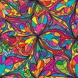 Ganzseitelinie nahtloses Muster der Liebe Stockbilder