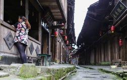 Gao miao miasteczko w Sichuan, porcelana Zdjęcie Royalty Free