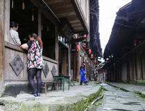 Gao miao miasteczko w Sichuan, porcelana fotografia royalty free