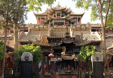 Gao Miao Temple na cidade de Zhongwei, província de Ningxia, China fotografia de stock