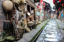 Gao miaostad i sichuan, porslin arkivbilder
