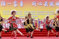 Gaoshan少数传统歌曲和舞蹈-高山绿色 免版税库存照片