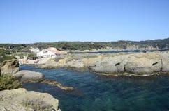 Gaou wyspa, śródziemnomorski krajobraz, France Obraz Royalty Free
