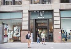 GAP almacena en New York City imagenes de archivo