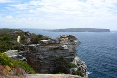 Gap Bluff walking track. Watsons Bay. Sydney. New South Wales. Australia. Sydney is the state capital of New South Wales and the most populous city in Australia royalty free stock images