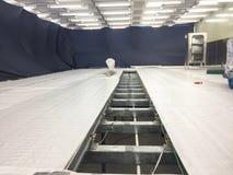 Gap dans la nouvelle pièce propre pour la construction, bâtiment industriel image stock