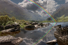 Gap of Dunloe. A rainbowat at the Gap of Dunloe near Killarney Ireland Stock Photos