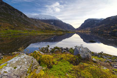 Gap Of Dunloe. Reflected in still waters of Auger Lake, Killarney, Co.Kerry, Ireland Royalty Free Stock Image