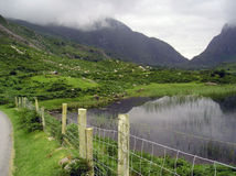 Gap of dunloe, ireland, lake and mountains Royalty Free Stock Images