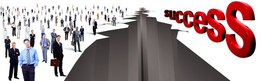 Gap entre dos grupos de personas grandes Imagen de archivo