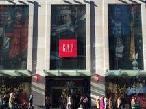 GAP entreposé à New York Photo libre de droits