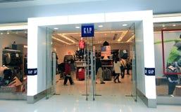 Gap kaufen in Hong Kong stockbilder