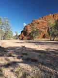 Gap in the MacDonnell ranges outback Alice Springs Royalty Free Stock Photography
