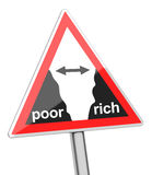 Gap between poor and rich Stock Image