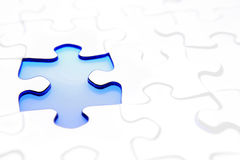 Gap in puzzle Royalty Free Stock Image