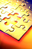 Gap in puzzle Stock Photography