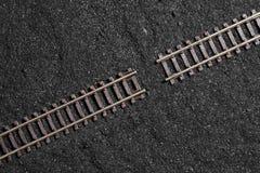 Gap between railroad tracks Stock Image