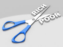 Gap between rich and poor Stock Image