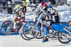 Into the gap. Russia. The Republic Of Bashkortostan. The Ufa. Racing on ice. The Championship Of Russia. A final . February 1, 2014 Stock Photo
