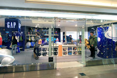 Gap shop in Hong Kong Royalty Free Stock Photography