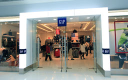 Gap shop in Hong Kong Stock Images