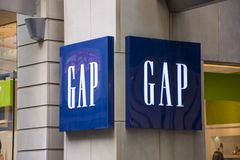 Gap store royalty free stock images