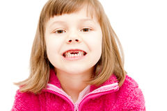 Gap toothed girl Royalty Free Stock Images