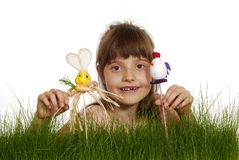Gap-toothed girl Royalty Free Stock Photos