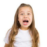 Gap Toothed Girl. Cute little girl with a few missing teeth smiling stock photos