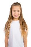 Gap Toothed Girl. Cute little girl with a few missing teeth smiling stock images