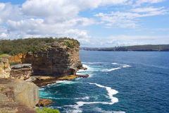 The Gap at Watsons Bay Sydney Australia. The Gap on a sunny day in Watsons Bay Sydney. Overlooking the entrance to Sydney Harbour Australia Stock Images
