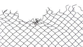 Gap of wire netting Stock Image