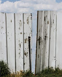 Gap in wooden fence Royalty Free Stock Photos