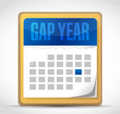 Gap year calendar illustration design Stock Photography